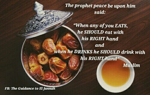 Keep your and your  to your right. It's #sunnah to use your right hand.