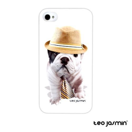 Profitez du célèbre bulldog à tout moment. Coque Téo Jasmin Giorgio iPhone 4, 4S #case #coque #iphone5 #TeoJasmin #bulldog