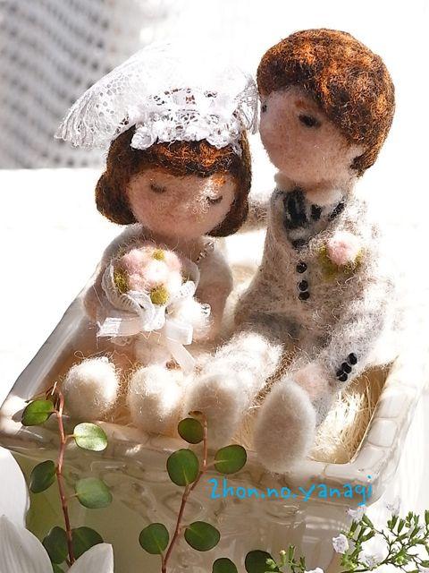 新郎新婦の写真(スナップでよい)をお預りできればお二人のイメージで幸せ感満載のお人形をお作りします。披露宴の受付等に置いていただければ、列席者の方にも喜んでい...|ハンドメイド、手作り、手仕事品の通販・販売・購入ならCreema。
