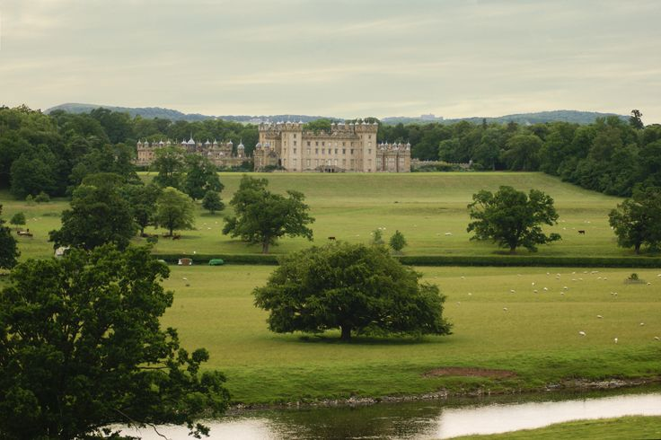 Floors Castle taken from the hill at the Ruins of Roxburgh Castle.