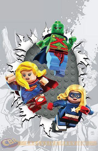 DC Comics LEGO Batman 3 : Beyond Gotham variant cover - Justice League United #6