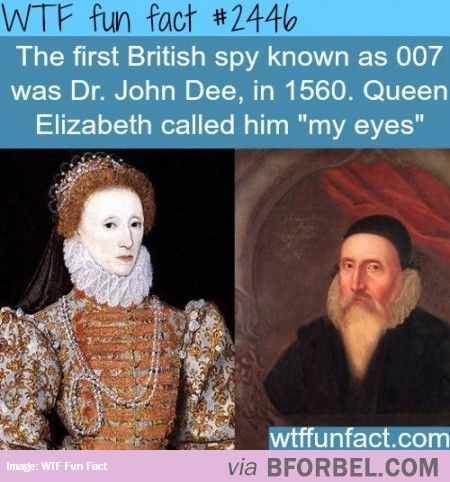 This is bull; a complete falsehood. There was never a spy named 007 before the fictional character James Bond, and John Doe was many things; philosopher, scientist, alchemist, advisor to the queen and advocate for a British Empire, but a spy he was not.