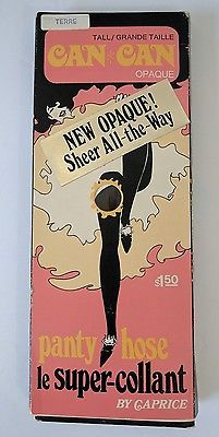 Ladies NEW Vintage Can-Can Opaque Pantyhose by Caprice Tall Dancing Lingerie