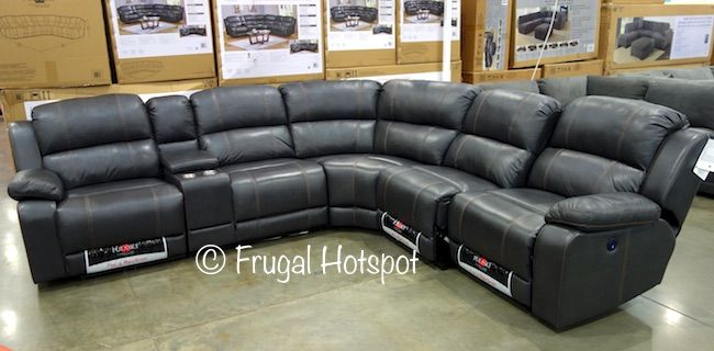 Costco Pulaski Furniture Leather Power Reclining Sectional 1 799 99 Reclining Sectional Furniture Pulaski Furniture