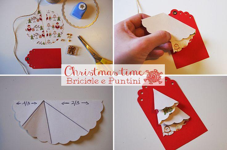 tutorial chiudipacco con alberi di Natale di carta