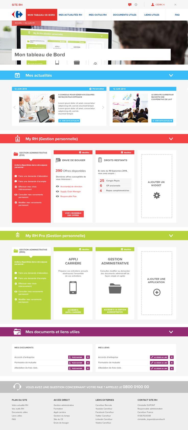 Web design, Carrefour, RH, ressources humaines, colorful, graphic design