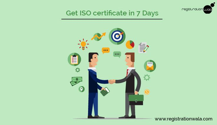 Get #ISOCertification for your #Company within 7 days through registrationwala.com.