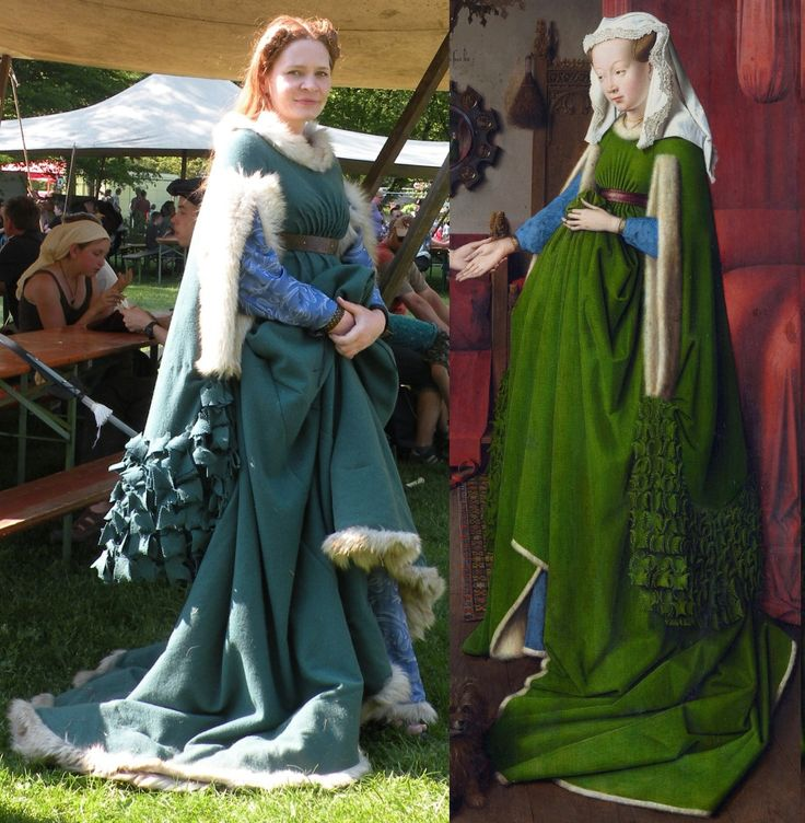 "The ""Arnolfini Marriage"" gown Subjects on this page (click or just scroll down to see them all): Overview of the portrait gown Making the dress The finished gown Differences between my …"