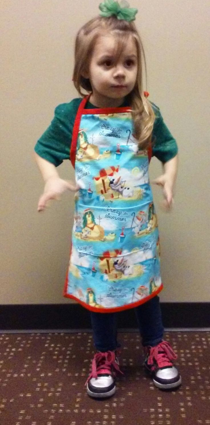 Olaf Crazy for Summer Child's Apron by SewVeryBerry on Etsy
