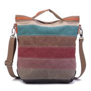 Women Canvas Casual Multifunctional Microfiber Leather Large Capacity Handbag Shoulder Bags Backpack Online - NewChic Mobile