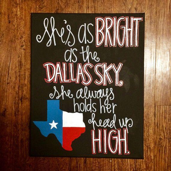 She's like Texas painting by KuskisCalligraphy on Etsy