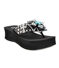 Grazie Tickled Multi Cross Sandals