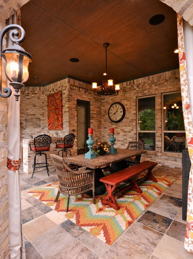 Mix and Match Furniture in Traditional Style Outdoor Patio Dining