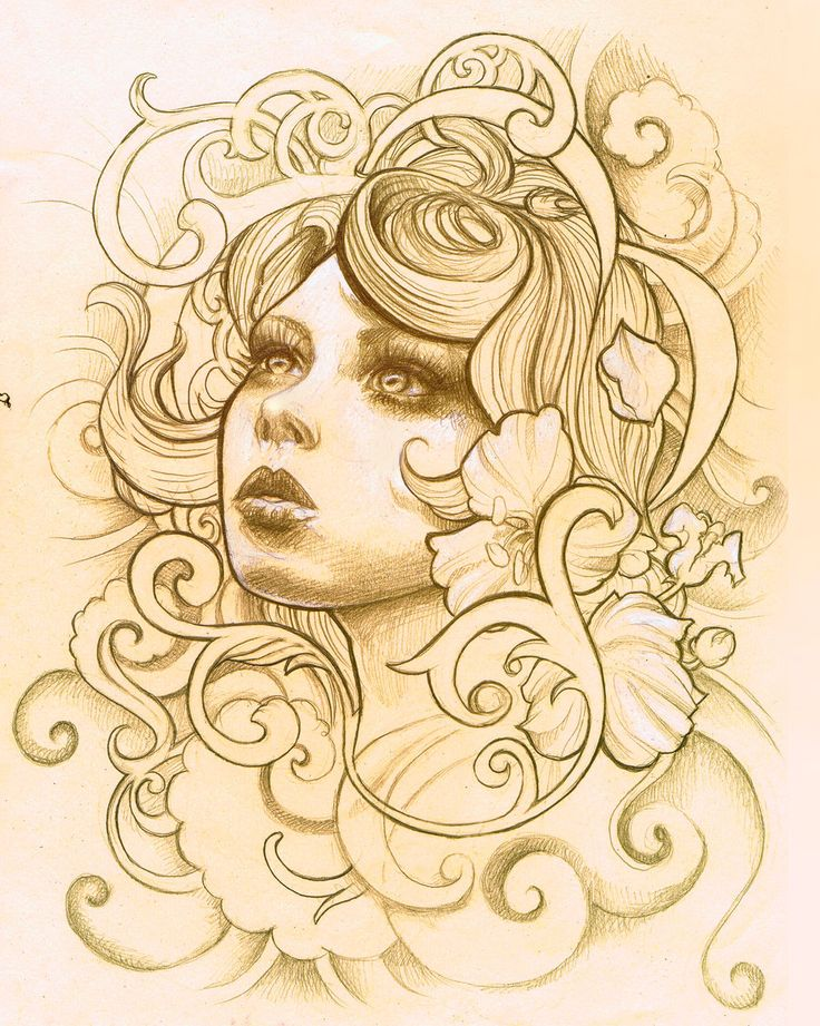 Absolutely love this Victorian tattoo design. Really elegant and subtle use of flowers. Would be great in sleeve. http://illogan.deviantart.com/art/Tattoo-Design-Sketch-1-343396004
