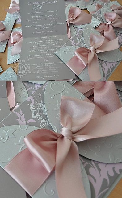 Dusty Rose and Silver Butterfly Wedding Invitations These are cute, but im not sure about the silver just yet .