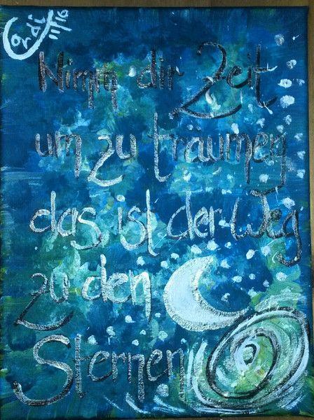 Acrylmalerei - Acrylbild Nimm dir Zeit zu träumen - ein Designerstück von HOAMELIGundSCHEAN bei DaWanda
