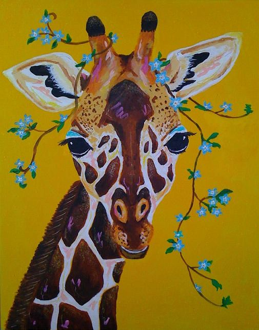 Gilda the Giraffe Painting