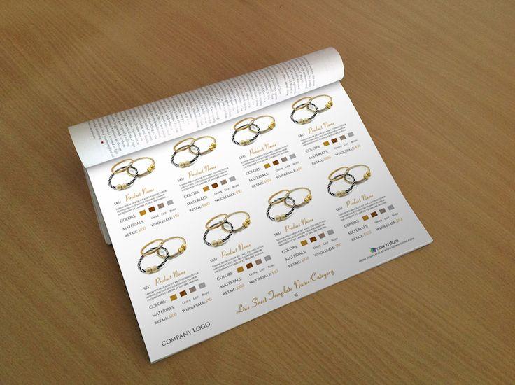 Jewellery Line Sheet Template