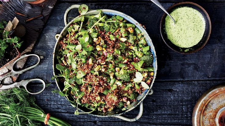 This quinoa salad recipe isn't complicated—and you can play with the combination of nuts and herbs depending on your personal favorites.