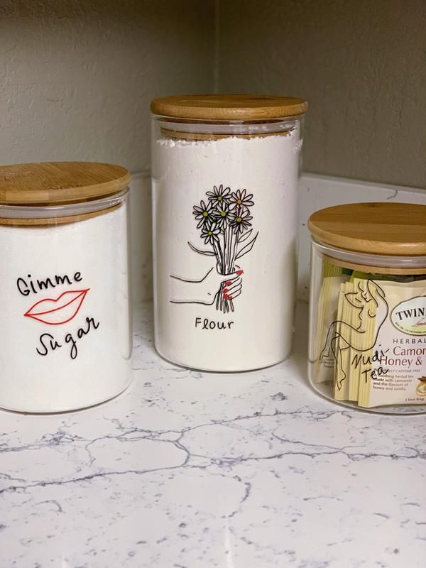 Large Wooden Lid Glass Storage Jar Kitchen Decor Inspiration