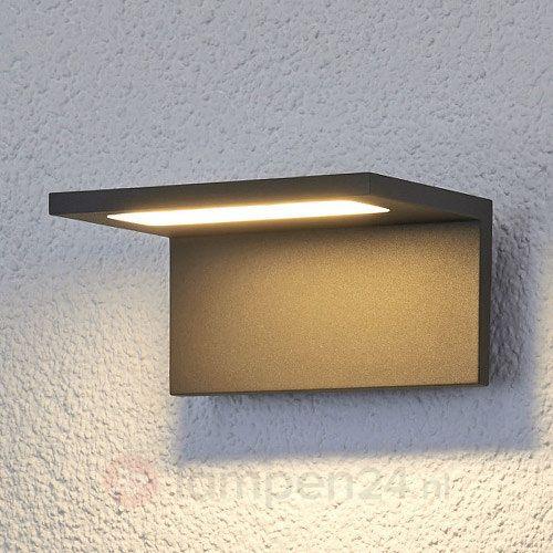 Vlakke LED-buitenwandlamp Caner veilig & makkelijk online bestellen op lampen24.nl
