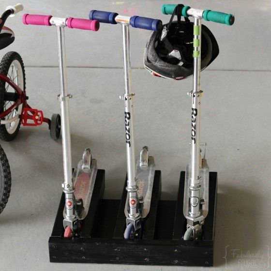 Make your own scooter stand for Razor scooters!