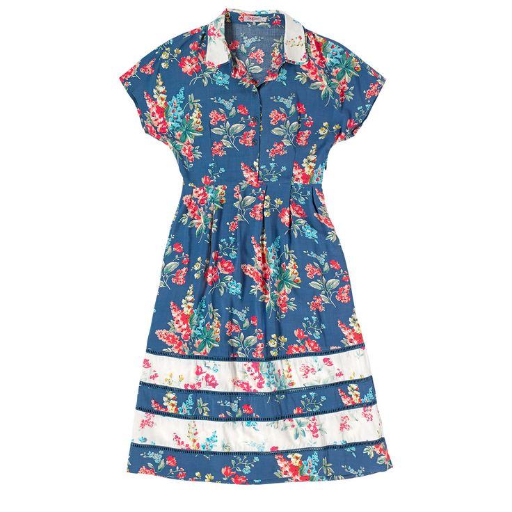 Lupin Contrast Print Shirt Dress | Dresses | CathKidston