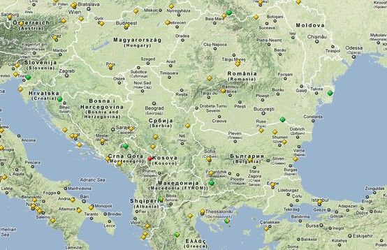 map of the #UNESCO sites in the #Balkans