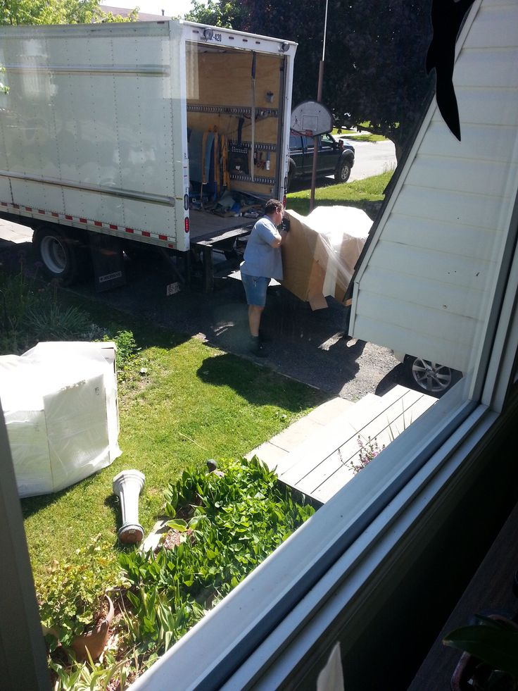 Cabinets arrive