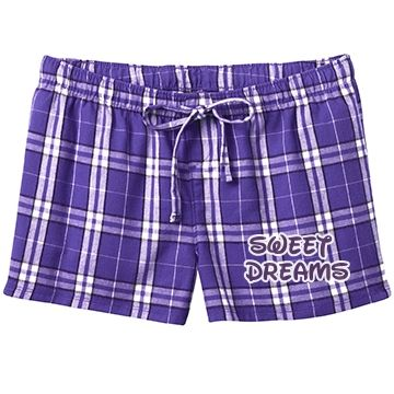 Sweet Dreams (Purple) SarahBe Designs #customizedgirl #purple #sweetdreams #pajama #shorts