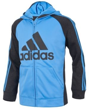 adidas Game Day Hooded Zip-Up Jacket, Toddler Boys (2T-5T) - Blue 3T