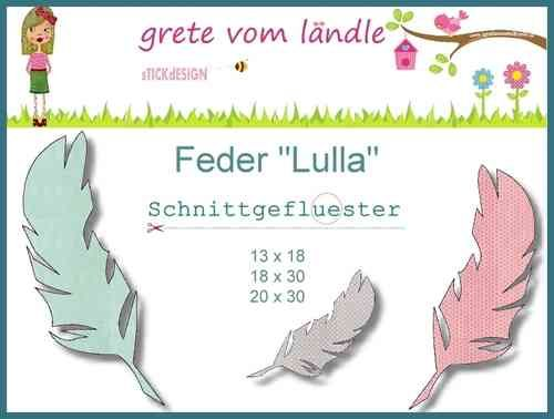 Freebie Stickdatei Feder