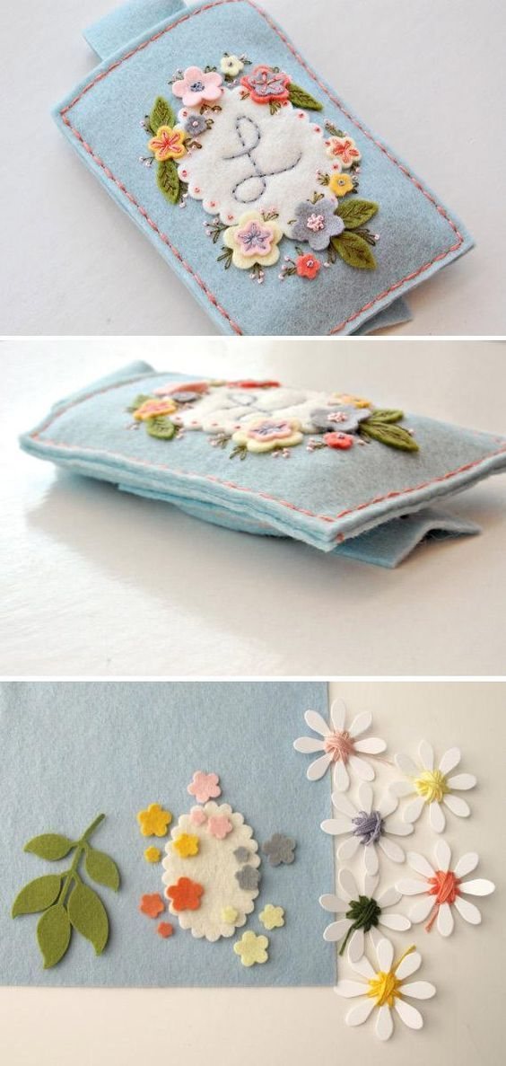 Stitch up the sweetest felt phone case with this #DIY kit. #etsy::