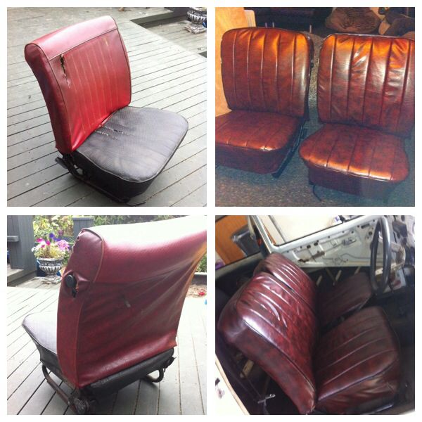 VW Beetle seats Before ----> After