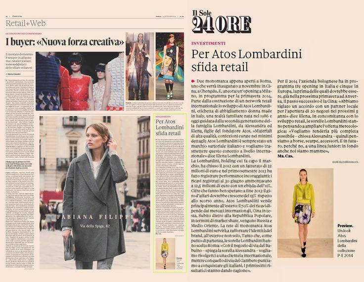 Il SOLE 24 Ore Italia - September 24th 2013 _ Pag. 24: Brand review by Marta Casadei.