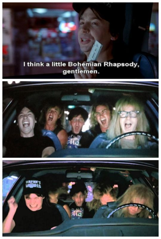 Wayne's World: Bohemian Rhapsody. The Greatest? You betcha! Click to relive this hilarious scene #lol