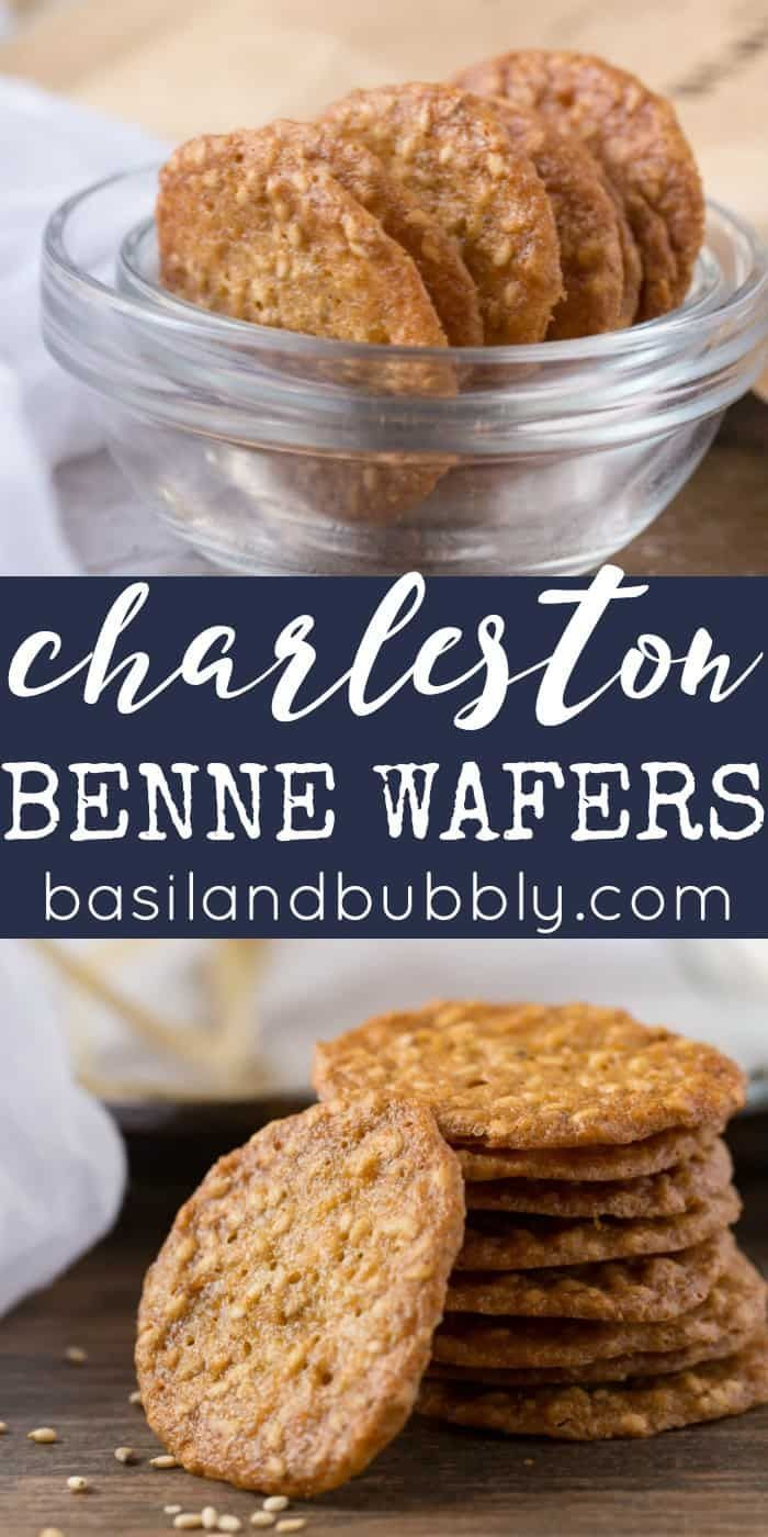 Charleston Benne Wafers Recipe - a light, crispy cookie with brown sugar and sesame seeds commonly found in the Lowcountry of South Carolina and for sale in the Charleston Market downtown.