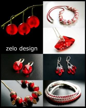 red jewelry www.zelodesign.ro