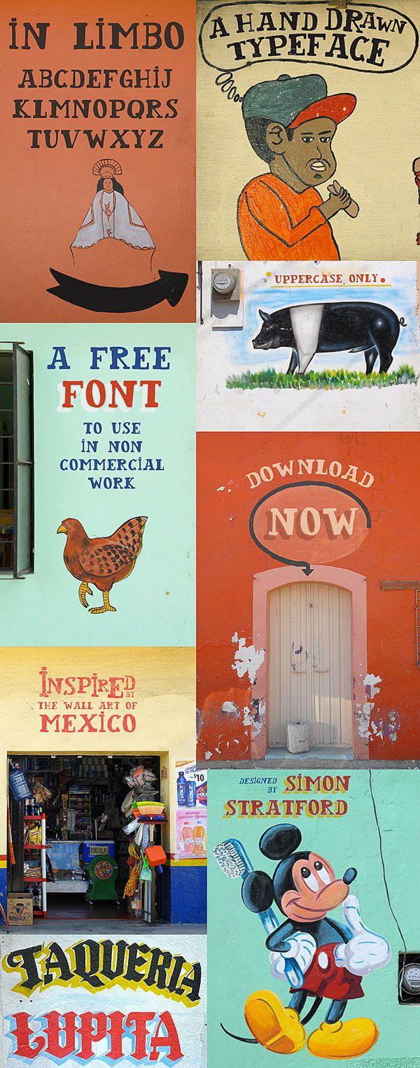In Limbo free font by simon stratford, via Behance #itsmesimonok, #type