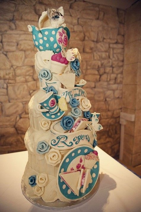 Choccywoccydoodah wedding cake from the hilarious Fiona and Steve