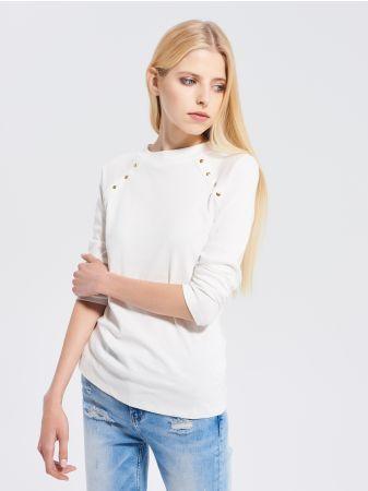 SINSAY - Bluzka z raglanowym rękawem <br><br>Wzrost modelki: 173 cm<br>Rozmiar produktu: S