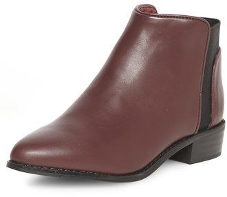 $19, Oxblood Pointed Chelsea Boot by Dorothy Perkins. Sold by Dorothy Perkins. Click for more info: http://lookastic.com/women/shop_items/136287/redirect