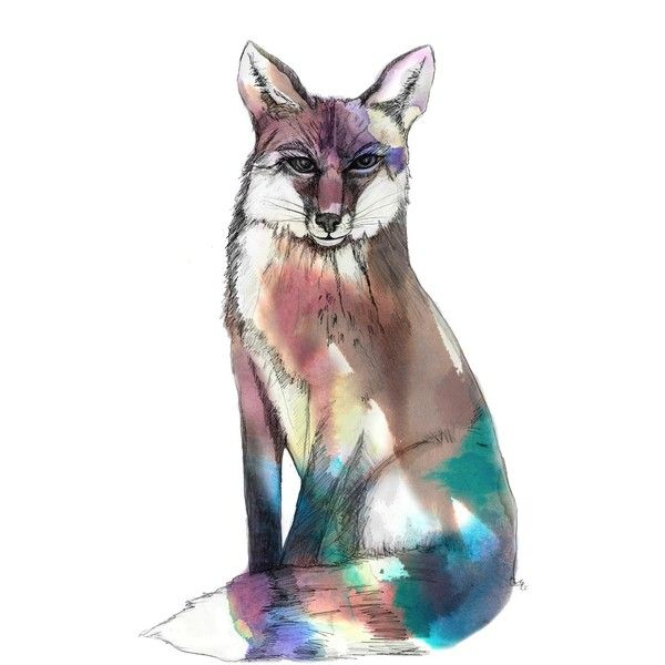 Imagination Illustrated Spirit Fox Art Print 36 Liked On Polyvore Featuring Home