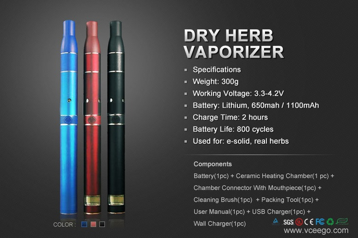 Dry Herb Vaporizer, Smoke with dry herb or real tobacco. Via: http://www.vceego.com/Dry-Herb-Vaporizer.html