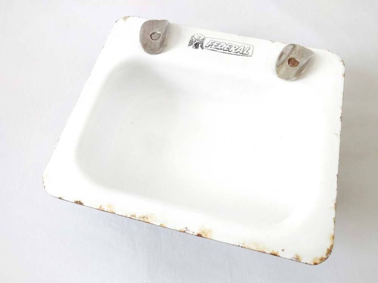 Antique Salesman Sample Kitchen Sink White Enamel Ware ASHTRAY Advertising Federal Plumbing Pittsburgh PA Old Sink Salesman's Tool Mini Sink by CollectionSelection on Etsy