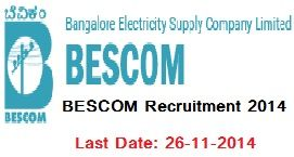 Bangalore Electricity Supply Company Limited recruitment 2014 Apply Now