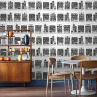 Graham & Brown Black / White High Street Wallpaper