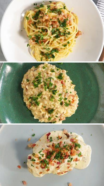 Não sabe o que fazer para o almoço? Descubra 3 receitas práticas e deliciosas com molho carbonara.