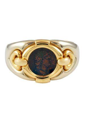 bulgari bulgari ca twotone roman coin cuff bracelet