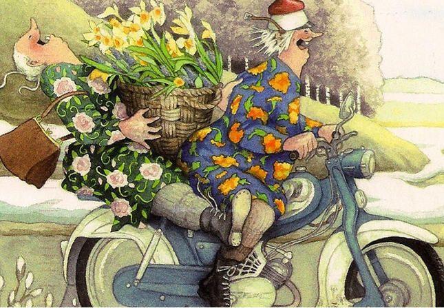 Прикольные картинки со старушками на велосипеде, машинки своими руками